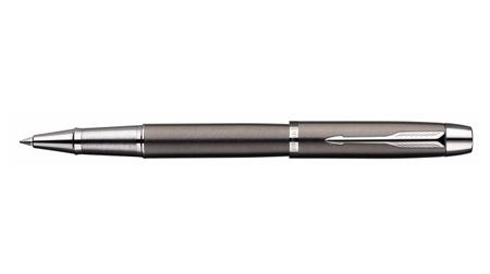 派克IM金属灰白夹宝珠笔