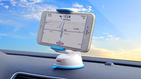 乐益车载手机支架苹果三星通用性汽车仪表台挡风玻璃吸盘式手机支架