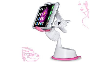 车载手机支架 苹果三星多功能通用汽车用导航仪表台吸盘式手机支架