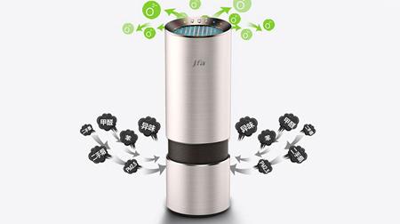 JFA智能车载空气净化器PM2.5 杯式汽车氧吧 负离子除甲醛烟雾异味