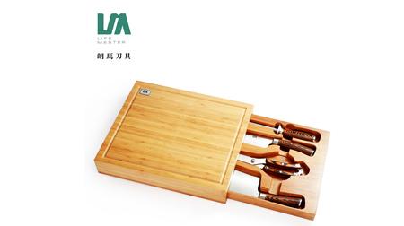 朗马 德国高档不锈钢厨房套刀刀具 钼钒钢菜刀套装组合五件套
