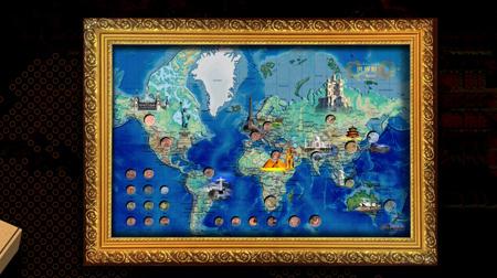 世界地图相框