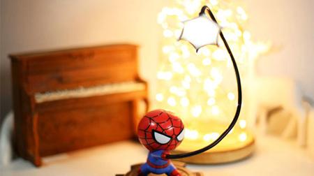 漫威正版 蜘蛛侠公仔LED灯 锂电池充电小夜灯 男生礼物圣诞新年 上海礼物
