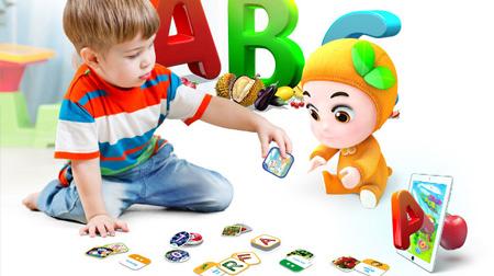 萌橙CC 魔法水果英语儿童早教卡AR立体认知有声识字卡片益智玩具