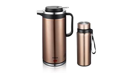 康佳电热水壶不锈钢保温杯组合装