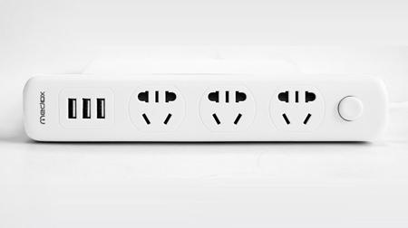 3USB商务排插座