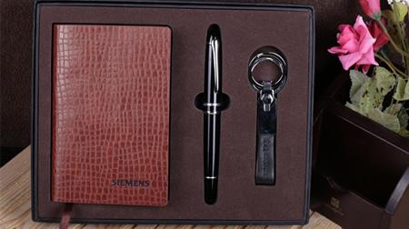 笔记本、笔、钥匙扣办公套装