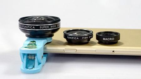 超广角鱼眼微距三合一手机镜头