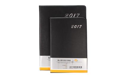2017款黑色PU精装笔记本16k