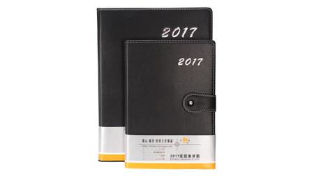 时尚精美黑色款PU活页本、笔记本16k