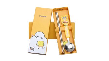 儿童餐具勺筷两件套