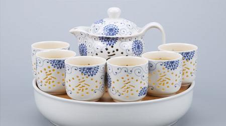 8头玲珑茶具、陶瓷茶具