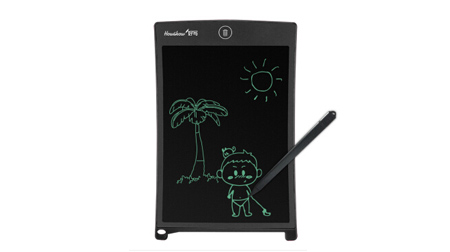 8.5英寸儿童写字板 液晶电子手写板 家庭留言备忘涂鸦绘画小黑板 黑色