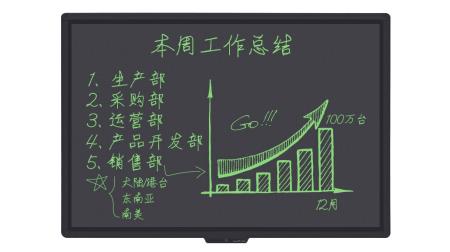 57英寸液晶写字板绘画板 会议培训手写板 白板光能黑板 57英寸手写黑板+黑板架