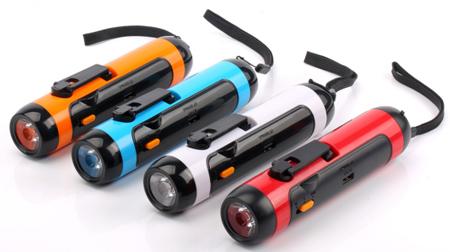 行者5合1汽车工具(手电筒、移动电源、FM收音机、防盗报警器)