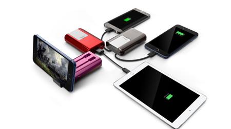 可隐藏式手机支架移动电源