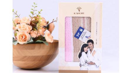金号炫彩毛巾、面巾(黄/粉/蓝)