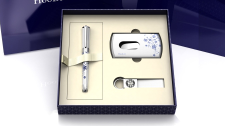 HooLee男士系统笔、名片夹、钥匙扣套装