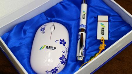 青花瓷商务三件装 无线鼠标+陶瓷笔+陶瓷U盘