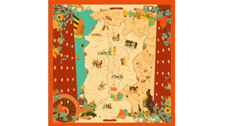 文化艺术丝巾《丝路千年》