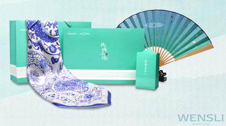 杭城三绝王星记杭扇、万事利丝绸、顶峰龙井茶