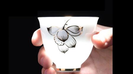 手绘白色美人杯、茶杯