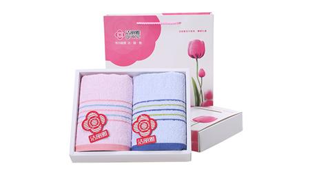 洁丽雅两条装 6337纯棉毛巾礼盒装