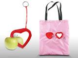 心形折叠购物袋