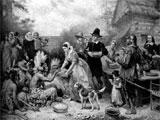 画家费里斯的作品《第一次感恩节》